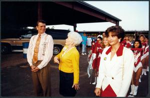 Primary view of object titled '[Charles Wilson Campains with Ann Richards and Miss Texas]'.