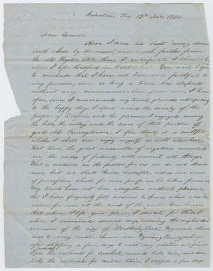 Primary view of object titled '[Letter to General, December 12, 1851]'.