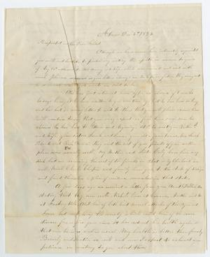 Primary view of object titled '[Letter from Diana Maray to John Patterson Osterhout, December 5, 1854]'.