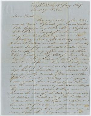 Primary view of object titled '[Letter from John Patterson Osterhout to his Brother, January 18, 1857]'.