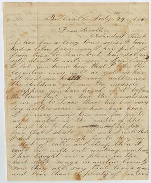 Primary view of object titled '[Letter from David Osterhout to Orlando Osterhout, July 29, 1860]'.