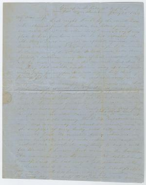 Primary view of object titled '[Letter from John Patterson Osterhout to Junia Roberts Osterhout, January 24, 1864]'.