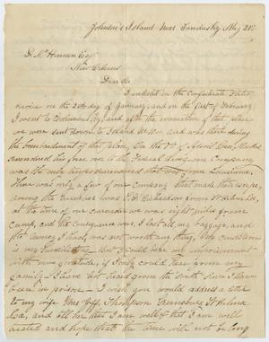 Primary view of object titled '[Letter from Jeff Thompson to D. N. Hennen, May 21]'.