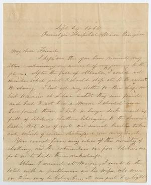 Primary view of object titled '[Letter from S. C. Page, September 24, 1864]'.