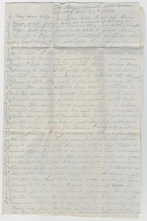 [Letter from John Patterson Osterhout to Junia Roberts Osterhout, October 30, 1864]