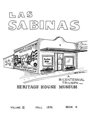 Primary view of object titled 'Las Sabinas, Volume 2, Number 4, October 1976'.
