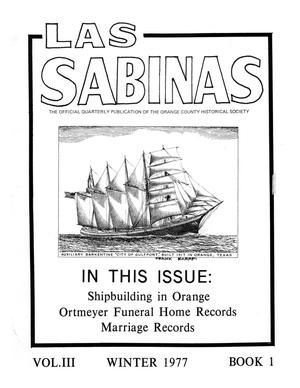 Primary view of object titled 'Las Sabinas, Volume 3, Number 1, January 1977'.