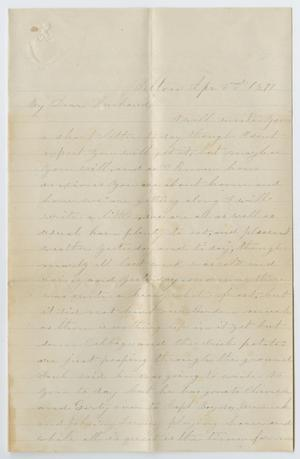 [Letter from Junia Roberts Osterhout to John Patterson Osterhout, April 2, 1871]