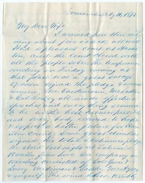 [Letter from John Patterson Osterhout to Junia Roberts Osterhout, February 11, 1872]