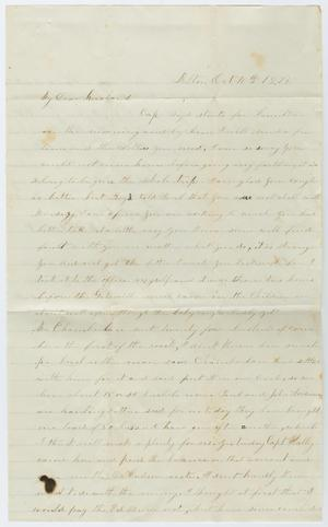 Primary view of object titled '[Letter from Junia Roberts Osterhout to John Patterson Osterhout, October 10, 1874]'.