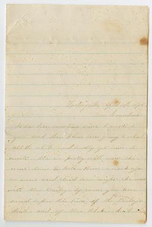 [Letter from May P. [Frear] to Sarah Osterhout, April 29, 1873]