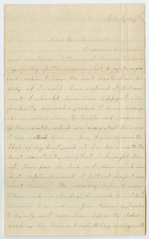 Primary view of object titled '[Letter from Alice Pilley to Junia Roberts Osterhout, August 18, 1876]'.
