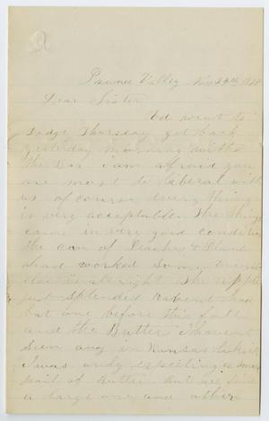 Primary view of object titled '[Letter from J. R. Roberts to Sister, November 24, 1878]'.
