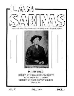 Primary view of object titled 'Las Sabinas, Volume 5, Number 3, July 1979'.