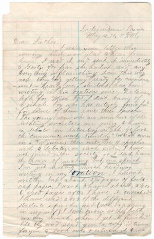 Primary view of object titled '[Letter from Paul Osterhout to John Patterson Osterhout, May 12, 1880]'.