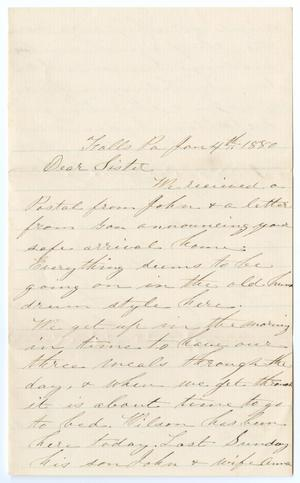 Primary view of object titled '[Letter from M. A. DeWitt to Junia Roberts Osterhout, January 4, 1880]'.