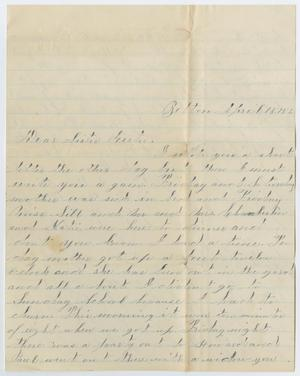 Primary view of object titled '[Letter from Ora Osterhout to Gertrude Osterhout, April 15, 1883]'.