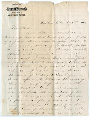 [Letter from George E. Osterhout to Paul Osterhout, August 9, 1883]