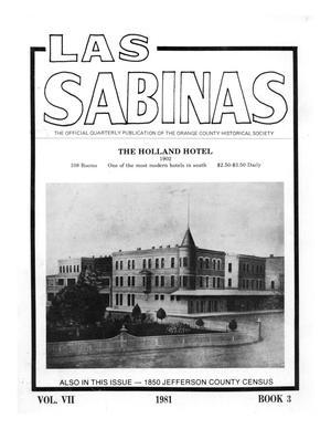 Primary view of Las Sabinas, Volume 7, Number 3, July 1981