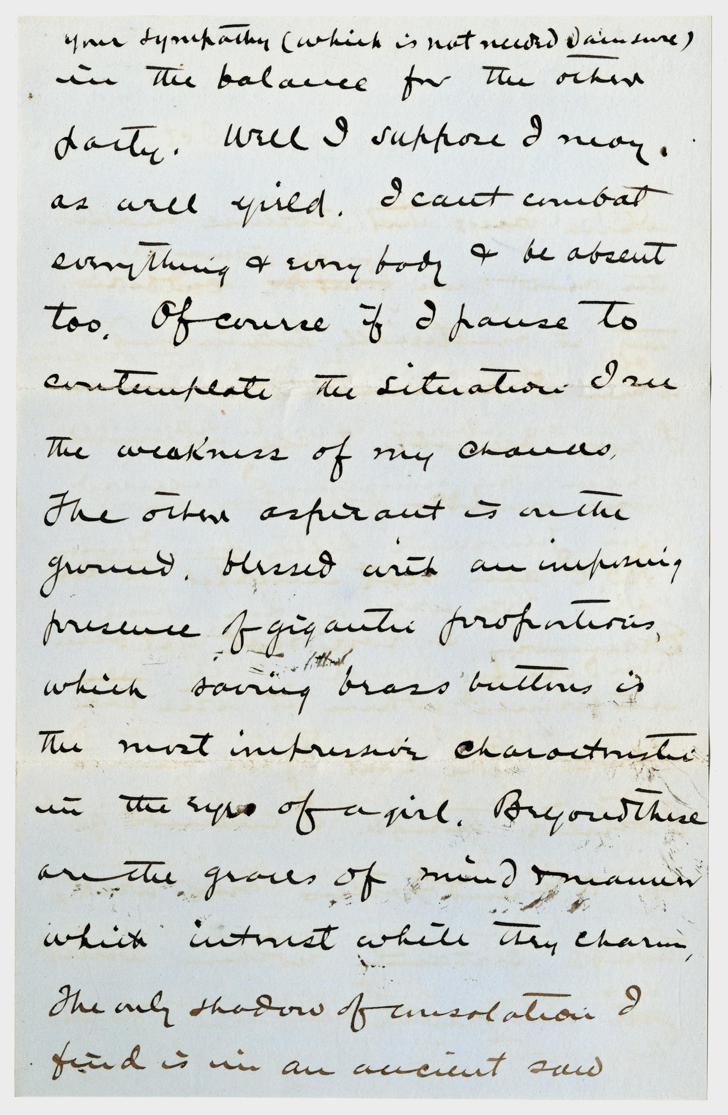 [Letter from E. B. Convers to Gertrude Osterhout, October 8, 1884]                                                                                                      [Sequence #]: 2 of 6