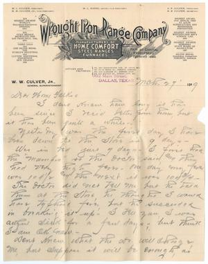 [Letter from W. W. Culver, Jr. to John Patterson Osterhout, March 27, 1899]