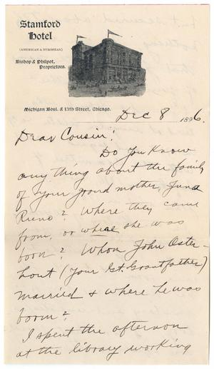 Primary view of object titled '[Letter from H. J. Bardwell to John Patterson Osterhout, December 8, 1896]'.
