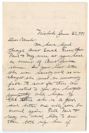 Primary view of object titled '[Letter from John P. Forman to John Patterson Osterhout, June 21, 1897]'.
