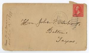 Primary view of object titled '[Envelope from Mrs. D. P. [W]arry to John Patterson Osterhout, February, 1899]'.