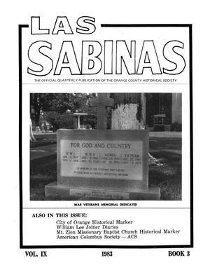 Primary view of Las Sabinas, Volume 9, Number 3, July 1983