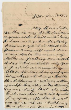 [Letter from Ora Osterhout to Gertrude Osterhout, June 2, 1881]