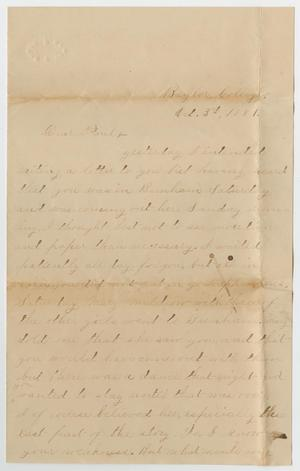 Primary view of object titled '[Letter from Gertrude Osterhout to Paul Osterhout, October 3, 1881]'.