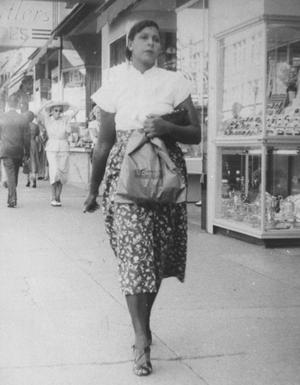 Primary view of object titled 'Gladys Christine Smith Walking Downtown'.
