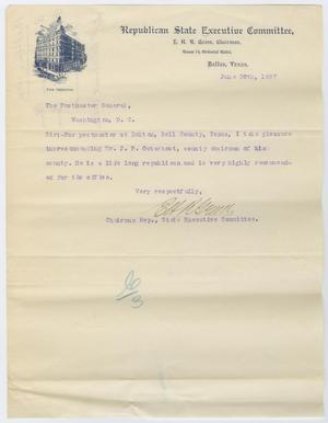 [Letter from E. H. R. Green to Postmaster General, June 30, 1897]
