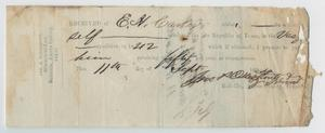 Primary view of object titled '[Certificate of Payment]'.