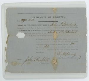 Primary view of object titled '[Certificate of Voter Registration for John Patterson Osterhout]'.