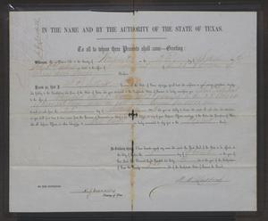 Primary view of object titled '[Certificate of the Election to Adjutant for John Patterson Osterhout]'.