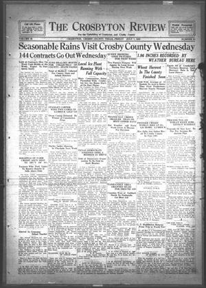 The Crosbyton Review. (Crosbyton, Tex.), Vol. 25, No. 28, Ed. 1 Friday, July 7, 1933