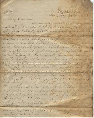 Primary view of object titled 'Letter to Cromwell Anson Jones, 25 May 1872'.