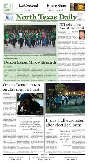 North Texas Daily (Denton, Tex.), Vol. 99, No. 1, Ed. 1 Tuesday, January 17, 2012