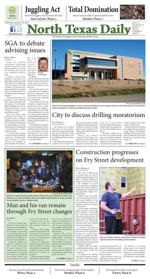 North Texas Daily (Denton, Tex.), Vol. 99, No. 3, Ed. 1 Thursday, January 19, 2012