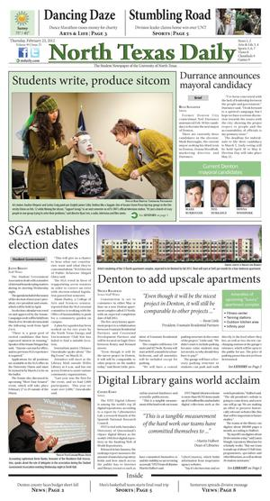 North Texas Daily (Denton, Tex.), Vol. 99, No. 23, Ed. 1 Thursday, February 23, 2012