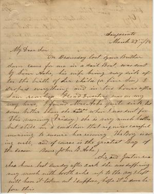 Primary view of object titled 'Letter to Cromwell Anson Jones, 29 March 1872'.