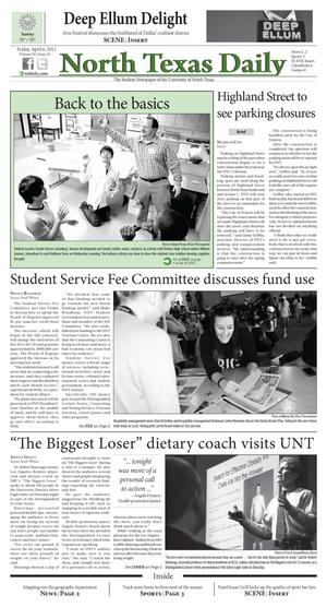 North Texas Daily (Denton, Tex.), Vol. 99, No. 44, Ed. 1 Friday, April 6, 2012