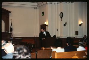 Primary view of object titled '[Courtroom Scene]'.