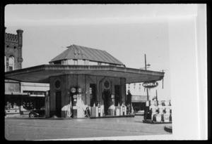 Primary view of object titled '[Service Station in Palestine]'.