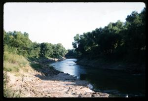 Primary view of object titled '[Photograph of Trinity River - Anderson County]'.