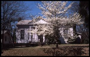 Primary view of object titled '[Dogwood Tree in Front of the Howard House - 1011 N. Perry]'.