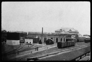 Primary view of object titled '[Train Yards at Palestine]'.
