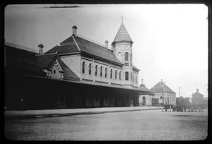 Primary view of object titled '[Train Depot - Palestine]'.