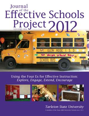 Primary view of object titled 'Journal of the Effective Schools Project, Volume 19, 2012'.